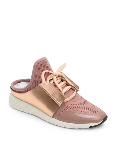 Dolce Vita Open Back Lace-Up Slide Sneakers-PINK-6.5