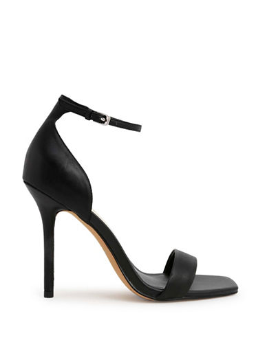 Dolce Vita Halo Leather Ankle Strap Sandals-BLACK-7