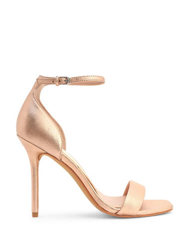 Dolce Vita Halo Leather Ankle Strap Sandals-ROSE GOLD-8.5