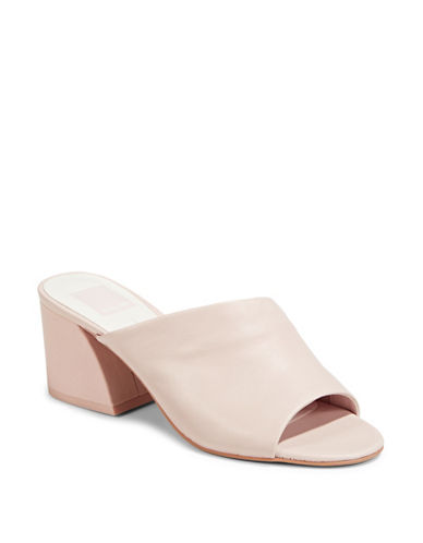 Dolce Vita Jules Leather Mules-PINK-8.5