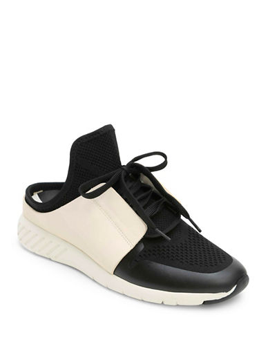 Dolce Vita Open Back Lace-Up Slide Sneakers-BLACK-7.5