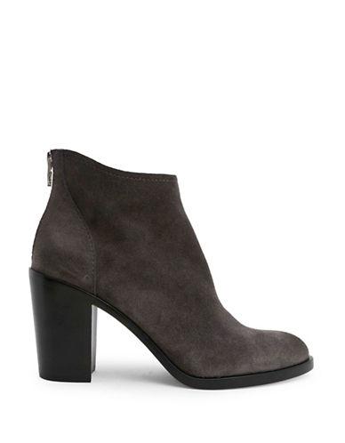 Dolce Vita Steveie Block Heel Suede Booties-GREY-8.5