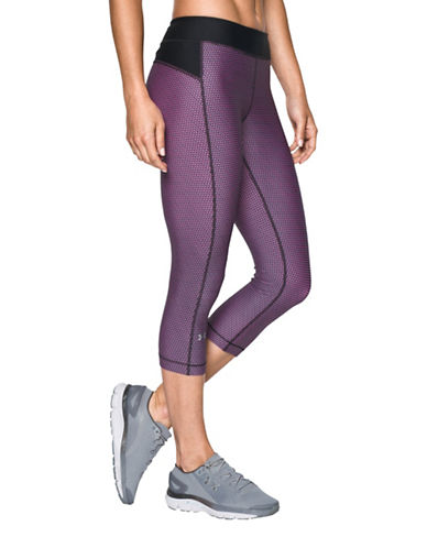 Under Armour HeatGear Armour Printed Capris-BLACK-Medium 88840469_BLACK_Medium