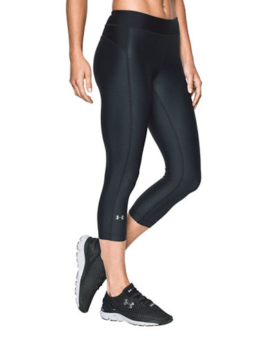 Under Armour HeatGear Armour Printed Capri Pants-BLACK-Large 88777518_BLACK_Large