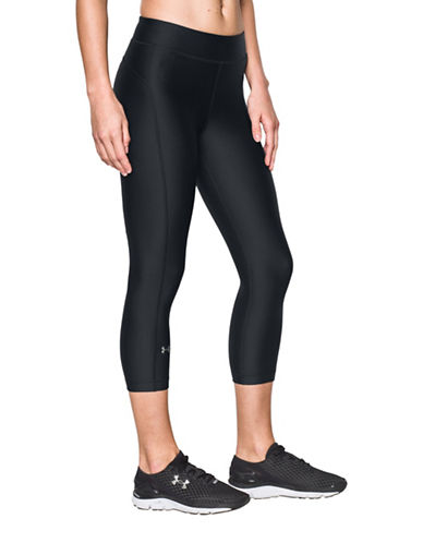 Under Armour HeatGear Armour Cropped Leggings-BLACK-Medium
