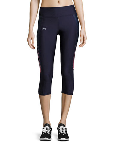 Under Armour Fly By Printed Capri Pants-MIDNIGHT-Medium plus size,  plus size fashion plus size appare