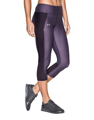 Under Armour Fly-By Printed Capris-IMPERIAL PURPLE-Small 89070404_IMPERIAL PURPLE_Small
