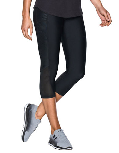Under Armour Fly-By Printed Capris-BLACK-X-Small 88967168_BLACK_X-Small