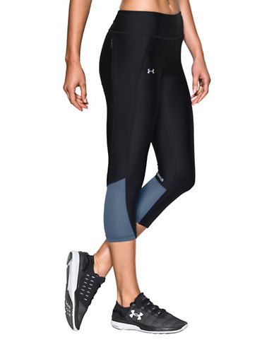 Under Armour Heat Gear Fly-By Cropped Leggings-BLACK-Medium 88840498_BLACK_Medium