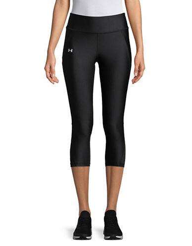 Under Armour Contrasting Logo Leggings-BLACK-X-Small