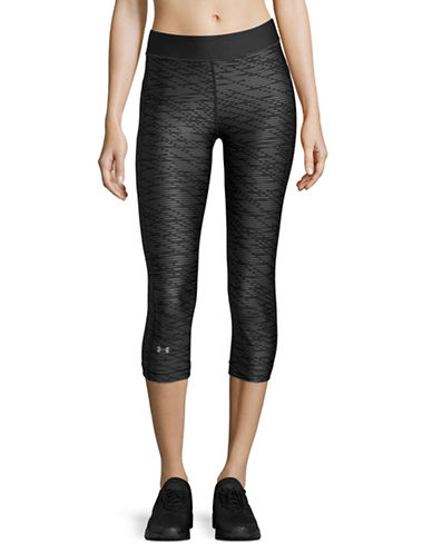 Under Armour Armour Printed Capris-BLACK-X-Small 89136286_BLACK_X-Small