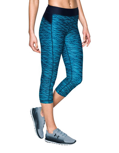 Under Armour HeatGear Printed Capris-BLACK-X-Large