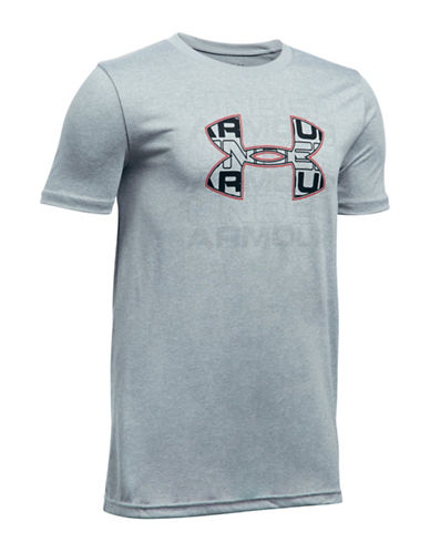 Under Armour Infusion Logo Tee-GREY-X-Large 89081083_GREY_X-Large