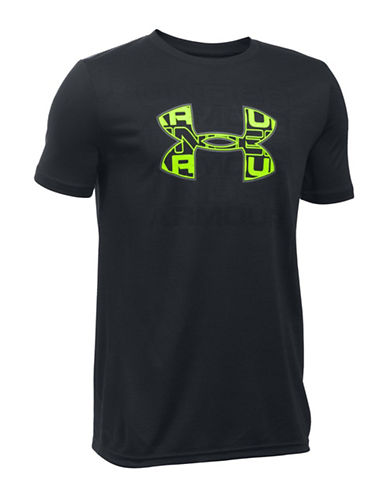 Under Armour Infusion Logo Tee-BLACK-Small