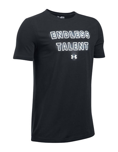 Under Armour Endless Talent Graphic Tee-BLACK-Small