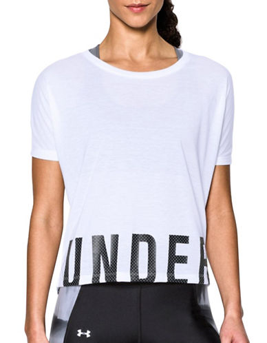 Under Armour Wordmark Hem Cropped T-Shirt-WHITE-X-Small 89261080_WHITE_X-Small
