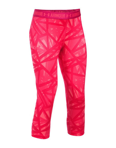 Under Armour UA HeatGear Armour Printed Capris-PINK-Medium 88981417_PINK_Medium