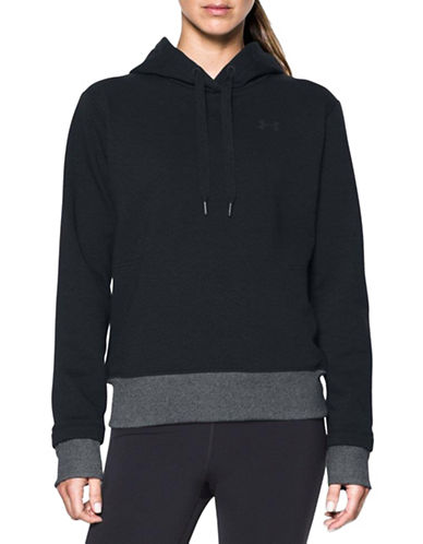 Under Armour Threadborne Fleece Hoodie-BLACK-Small