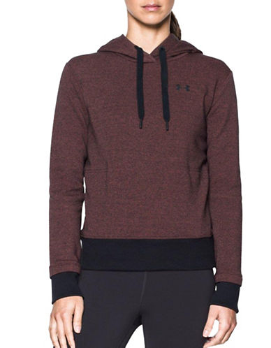 Under Armour Threadborne Fleece Hoodie-RED-Small