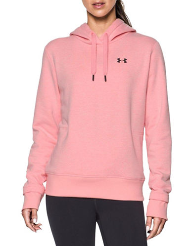 Under Armour Threadborne Fleece Hoodie-PINK-X-Small