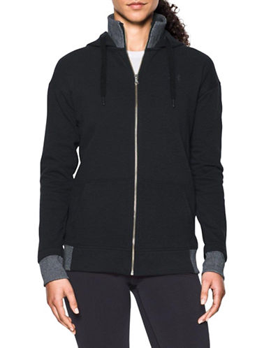 Under Armour UA Threadborne Fleece Full Zip Hoodie-BLACK-X-Small 89655860_BLACK_X-Small