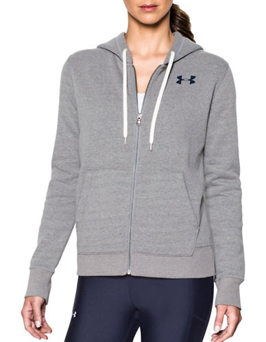 Under Armour Favorite Fleece Jacket-GREY-Large