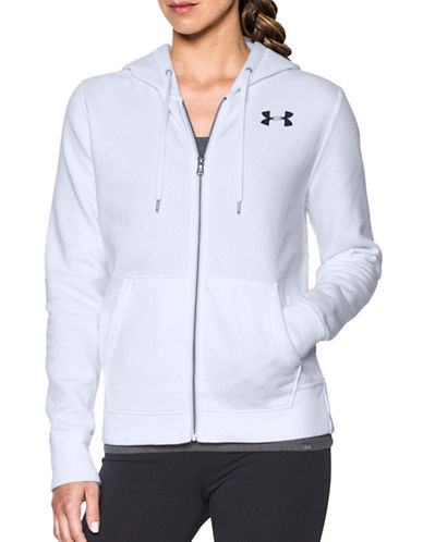 Under Armour Favourite Fleece Jacket-WHITE-Large