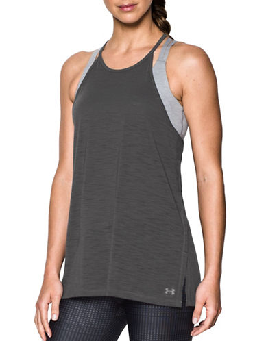 Under Armour Threadborne Fashion Tank Top-GREY-X-Small