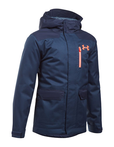 Under Armour UA ColdGear Reactor Yonders Parka-BLUE-Small