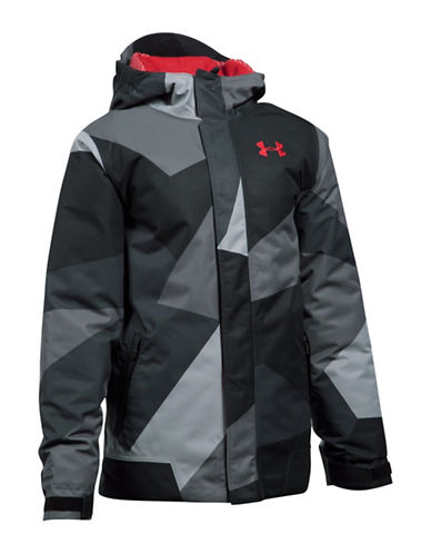 Under Armour Powerline Ski Jacket-GREY-X-Large