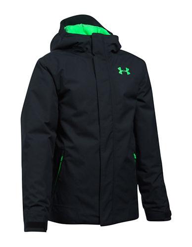 Under Armour Powerline Ski Jacket-BLACK-Medium