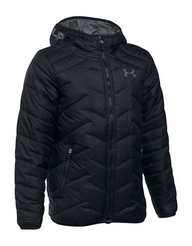 Under Armour ColdGear Reactor Quilted Hooded Jacket-BLACK-X-Large 89324474_BLACK_X-Large