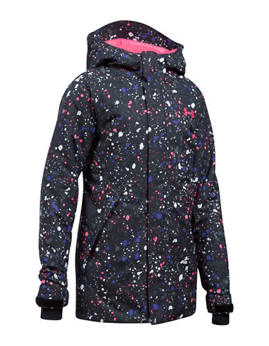 Under Armour Powerline Ski Jacket-BLACK-Medium