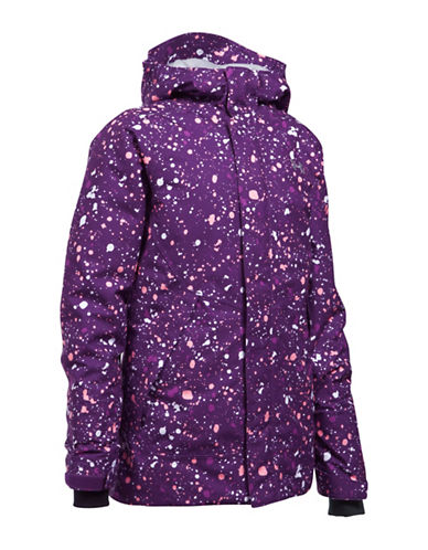 Under Armour Powerline Ski Jacket-PURPLE-Small