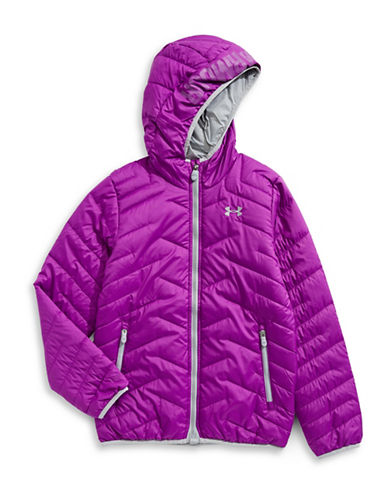 Under Armour Athleisure Hooded Jacket-PURPLE-Small