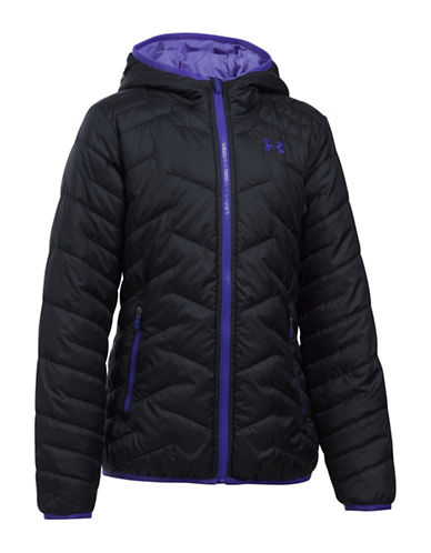 Under Armour ColdGear Reactor Quilted Hooded Jacket-BLACK-Small