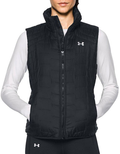 Under Armour ColdGear Reactor Quilted Vest-BLACK-Large
