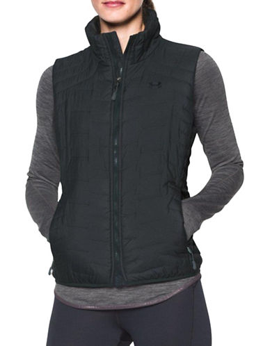 Under Armour ColdGear Reactor Quilted Vest-GREY-Large