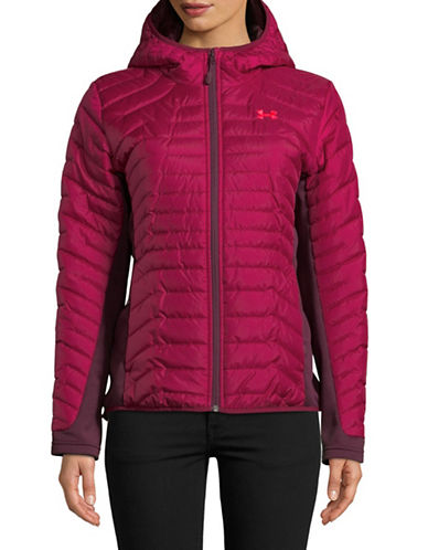 Under Armour Quilted Hybrid Jacket-RED-X-Small
