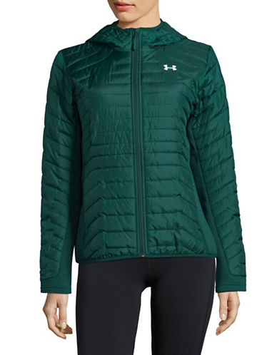Under Armour Quilted Hybrid Jacket-GREEN-Medium