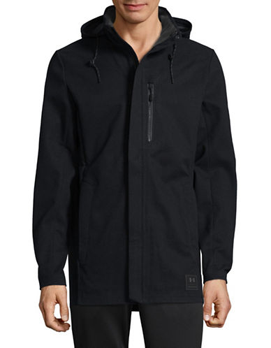 Under Armour Sporty Hooded Jacket-BLACK-Small