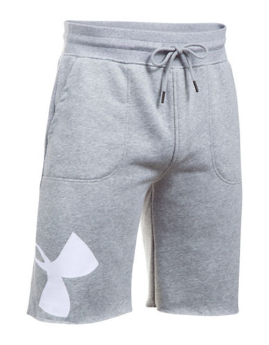 Under Armour Rival Exploded Graphic Shorts-GREY-X-Large