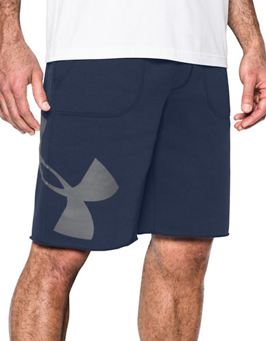 Under Armour Rival Exploded Graphic Shorts-BLUE-Large