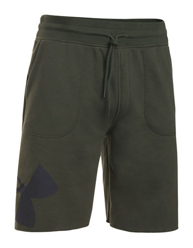 Under Armour Rival Exploded Graphic Short-GREEN-Small
