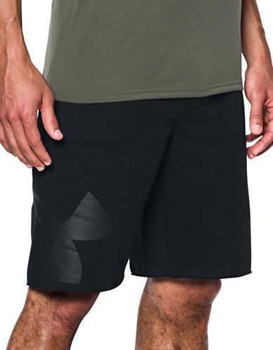 Under Armour Rival Exploded Graphic Shorts-BLACK-Medium
