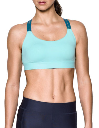 Under Armour Shape Low Impact Sports Bra-BLUE-X-Large