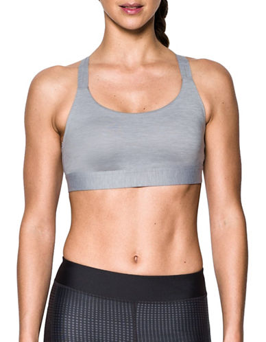 Under Armour Shape Mid Impact Sports Bra-GREY-Small