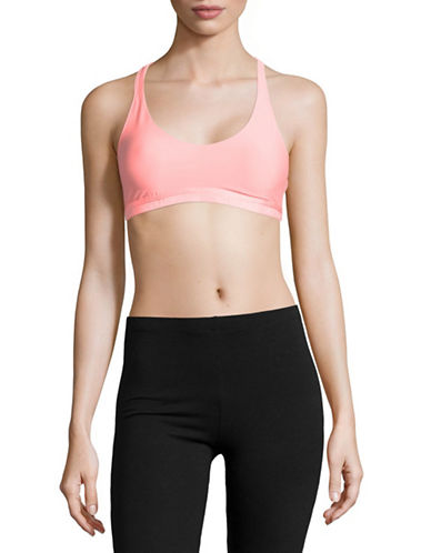 Under Armour Strappy Sports Bra-ORANGE-X-Large