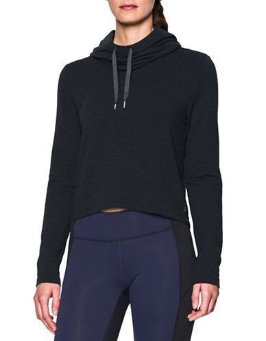 Under Armour Plush Terry Hoodie-BLACK-Large