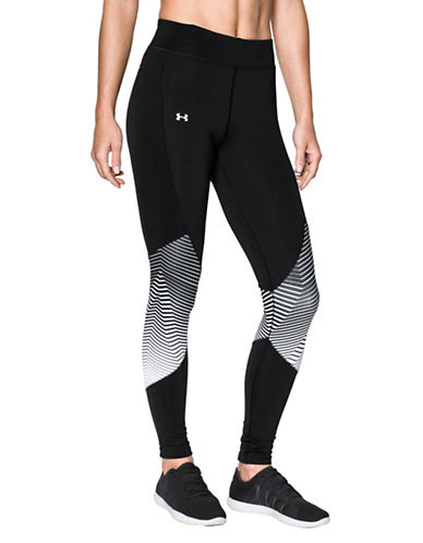 Under Armour ColdGear Reactor Breathable Athleisure Leggings-BLACK-Large 89718284_BLACK_Large